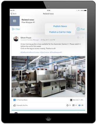 iPad on a factory floor